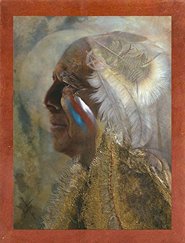 Frame USA Wicasa Wakan (the Holy Man) Framed Print 42.5''x31.5'' by Denton Lund, 42.5x31.5, Affordable Canadian Walnut Medium by Frame USA