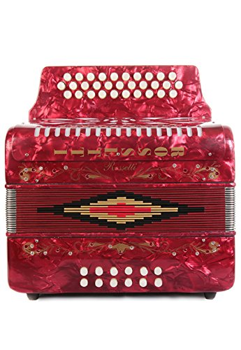 Rossetti 31 Button Accordion 12 Bass FBE Red by Rossetti (Image #3)