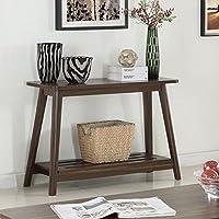 Coaster 1 Shelf Console Table in Chestnut