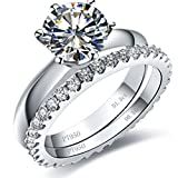 Silver 1.5CT Solitaire Engagement Ring 0.55CT