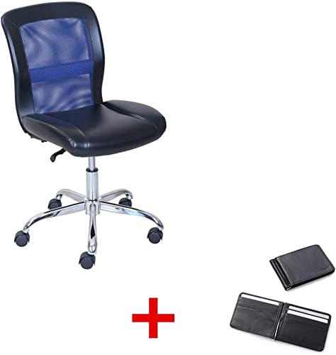 Mainstays Vinyl and Mesh Task Office Chair, Multiple Colors with Purse Black Blue