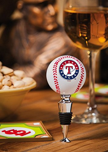 Team Sports America Texas Rangers Baseball Bottle Stopper by Team Sports