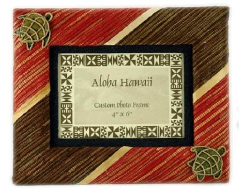 Woven Red & Brown with Honu (Turtle) Picture Frame (4