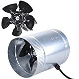 6'' Inline Duct Fan 260CFM Booster Exhaust Blower Aluminum Blade Air Cooling Vent