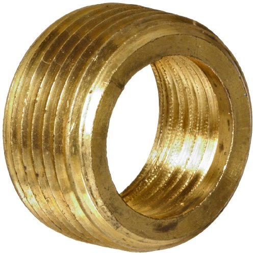 Anderson Metals Brass Pipe Fitting, Face Bushing, 1/2