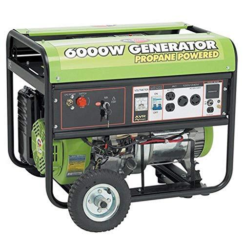 All Power America APG3560CN, 6000W Watt Generator with Electric Start, Portable Propane Generator for Home Use Power Backup, RV Standby, Storm Hurricane Damage Restoration Power Backup, EPA Certified