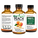 BioFinest Peach Fragrance Oil - 100% Pure & Natural - Fresh Home Scent - Air Refresher - Relaxing Aromatherapy - Skin and Hair Care - FREE E-Book and Dropper (100ml)