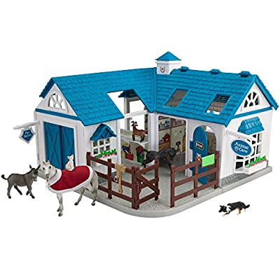 Breyer Stablemates Deluxe Animal Hospital | 10 Piece Set | 1:32 Scale | 11.25