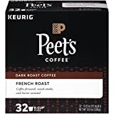 Peet's Coffee K-Cup Packs French Roast, Dark Roast Coffee, 32 Count Bold, Intense, Complex Dark Roast Blend of Latin American Coffees, with A Smoky Flavor and Pleasant Bite