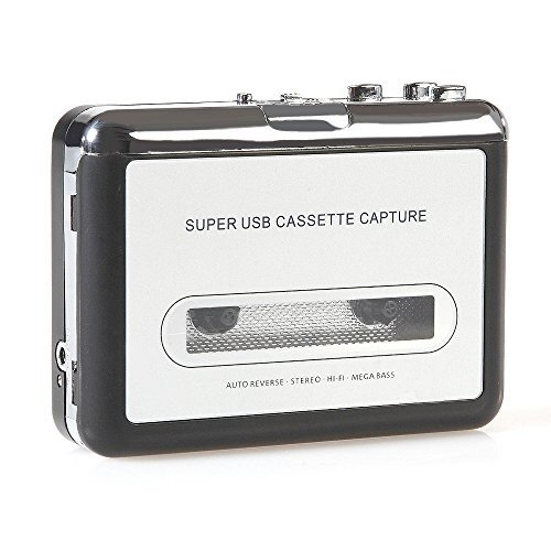 Handy USB Cassette Player and Tape-to-MP3 Digital Converter (Electronics Tape Player)