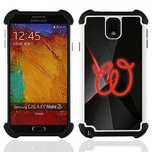 For Samsung Galaxy Note3 N9000 N9008V N9009 - w H????brido Protecci????n completa dual de alto impacto Capa Funda - God Garden -