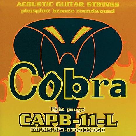 Real Juego de acordes de guitarra acústica Cobra 11 50 capb-11 ...