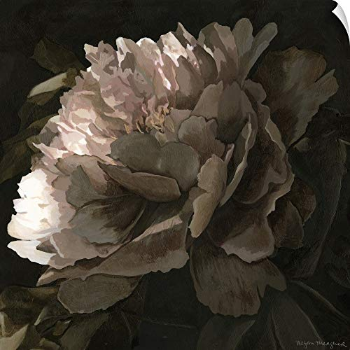 - CANVAS ON DEMAND Moonlit Peony II Wall Peel Art Print, 20