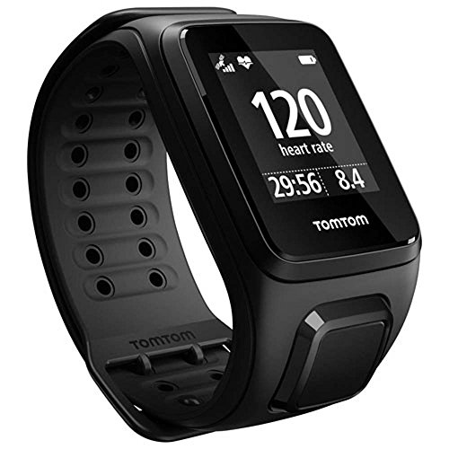 TomTom Spark Cardio + Music GPS Fitness Watch Black Small by