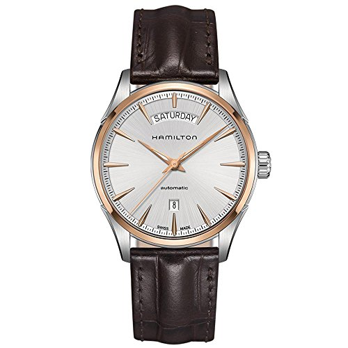 Men's Hamilton Jazzmaster Day Date Auto Leather Watch -