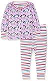 Hatley Baby Girls Organic Cotton Long Sleeve Mini Pajama Sets, Rainbow Unicorns, 3-6 Months