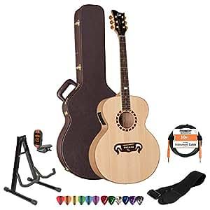 esp george lynch gl j1es nat acoustic electric guitar with 10 feet cable strap. Black Bedroom Furniture Sets. Home Design Ideas