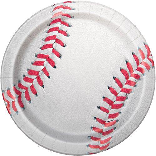 Baseball Dinner Plates, 8ct (Halloween Themed Hot Dogs)