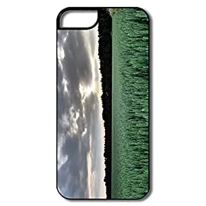 IPhone 5 Covers, Sunset Wheat Field Case For IPhone 5/5S - White/black Hard Plastic