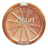 Rimmel London Sunshimmer 3 in 1 Shimmering Bronzer Bronzing Powder, Gold Princess, 1-Count