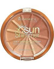 Rimmel London Sunshimmer 3 in 1 Shimmering Bronzer, 001 Gold Princess, 9.9g