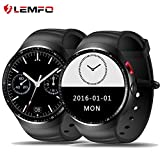LEMFO LES1 Smart Watch Android 5.1 Wrist Phone MTK6580 1GB + 16GB Heart Rate Monitor Smartwatch with 2.0 MP Camera For Men Women (Black)
