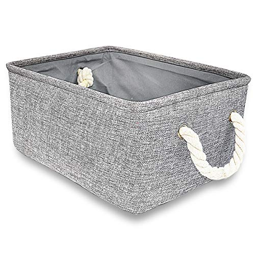 Silanto Grey Storage Baskets for Shelves, Fabric Organizer Baskets for Gift Empty (16.5 x 12.4 x 6.5 inch) -