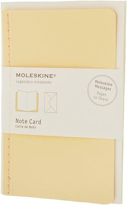 Pack de 12 Cartes de Note+Envelop Poche Jaune Pastel: Moleskine ...