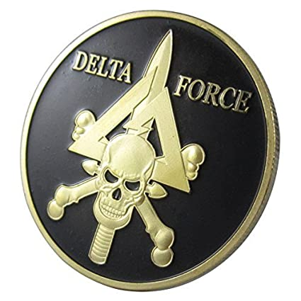 Amazon Us Military Delta Force 24kt Gp Challenge Coin 1040 By