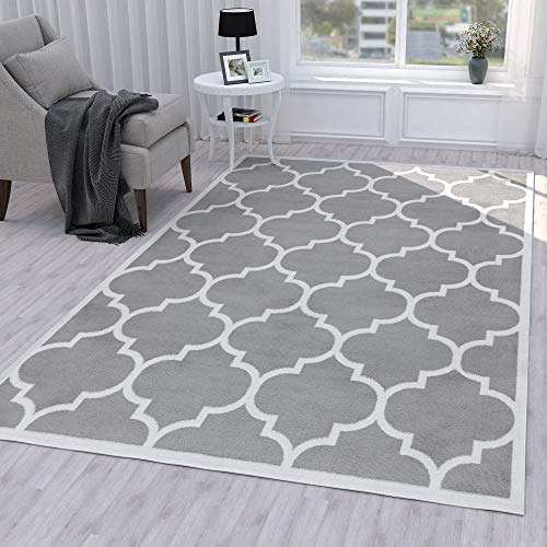 - Ottomanson Paterson Collection Contemporary Moroccan Trellis Design Lattice Area Rug, 94