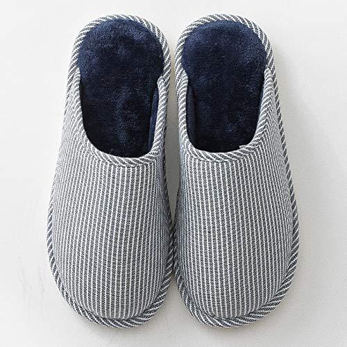 invernali Pantofole antiscivolo cotone in per Pantofole e donna comode e uomo calde E in YMFIE legno aq508w