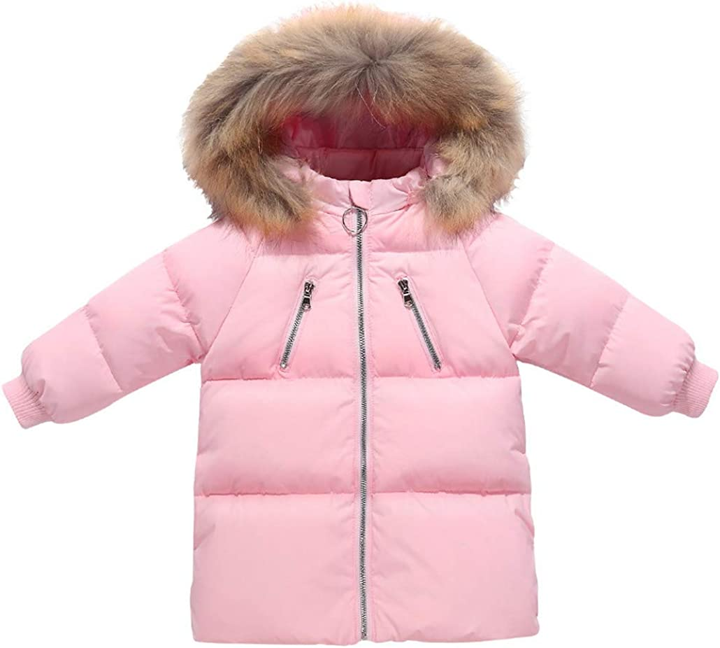 Yezijin Children Kids Boys Girl Winter Coats Jacket Zip Thick Warm Snow Hoodie Outwear for 2-7 Years Old