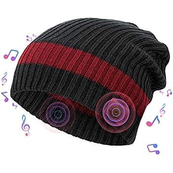 ec6302c6fda Amazon.com  Wireless Beanie - Wireless Headphones Hat and Scarf Set ...