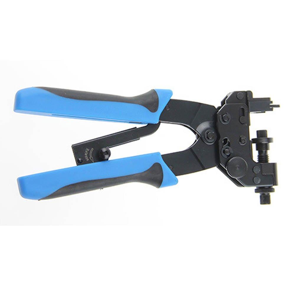 Nuzamas Pince /à sertir Coax Compression Pince /à sertir pour connecteurs F//BNC//RCA RG59/RG6/avec Stick-clamping technique /étanche Quikc Release