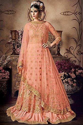 696cf89727 Readymade New Designer Bollywood Indian/Pakistani Anarkali Suit VF (Large,  Light Yellow)