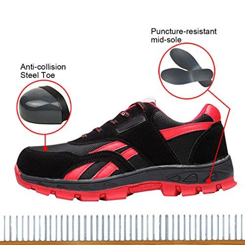 Black Optimal Shoes Toe Women's B Shoes Safety Shoes Work Steel BgHBrp8n