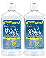 T.N. Dickinsons Astringent, 100% Natural jHJuHuy, Witch Hazel, 16 oz (2 Pack)
