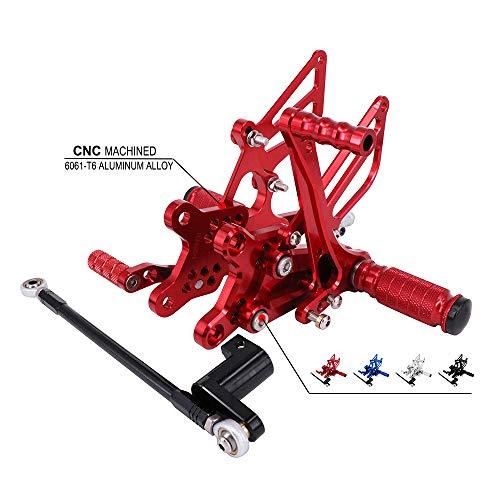 Rear Honda Cbr954rr (Motorcycle Rearsets Adjustable Foot Pegs Footrests Rear Set For Honda CBR954RR 2002-2003 CBR929RR 2000-2001 - CNC Red)