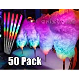 8 Light Modes LED Cotton Candy Cones 50 Units LED Sticks For Parties Glow sticks
