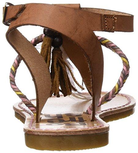 Refresh 063363, Sandalias con Punta Abierta para Mujer Hueso (Camel)