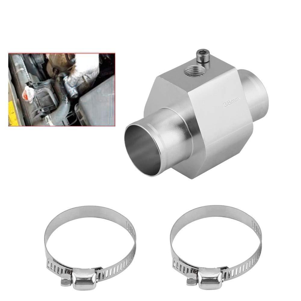 Duokon Capteur de Temp/érature Deau,Adaptateur de Tuyau de Radiateur en Aluminium 26MM