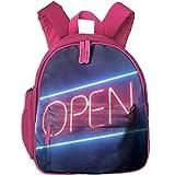 Open Neon Sign Waterproof School Bag Durable Travel Camping Backpack For Kids Boy Girl