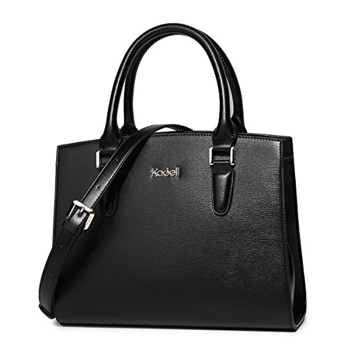 Elegant Handle Top Shoulder Tote Handbags Kadell Bags Purse Women Grey small Vintage Leather Satchel Black dqWvwS