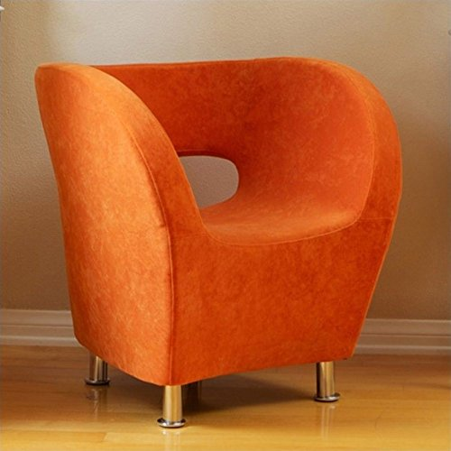 Noble House Trent Home Colleen Upholstered Accent Club Chair in Orange ()