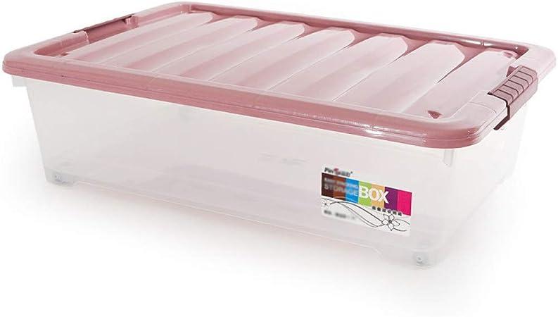 WYCD Caja De Almacenamiento Multiusos Bajo Cama con Tapa Plástico para Ropa De Cama Libro Merienda,Purple-XL: Amazon.es: Hogar