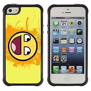 Hybrid Anti-Shock Defend Case for Apple iPhone 4s 4s Smiley LOL MEME