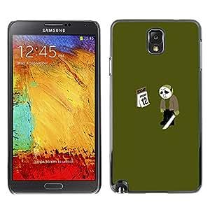 Samsung Note 3 N9000 - Metal de aluminio y de plástico duro Caja del teléfono - Negro - Friday 12 13 Jason - Funny Meme