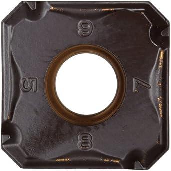 "Sandvik Coromant COROMILL Carbide Milling Insert, Wiper, 345N Style, Square, GC4230 Grade, Multi-Layer Coating, 345N1305EPW8,0.22"" Thick, 0.039"" Corner Radius (Pack of 10)"