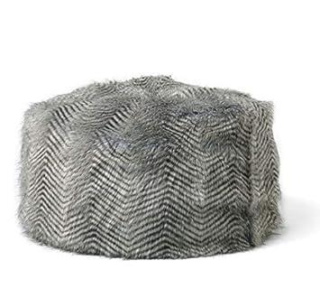8de7b2b4a9 icon Large Childrens Classic Faux Fur Bean Bags - Ostrich Chevron Grey