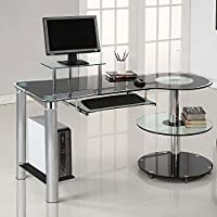 Innovex Orbit Desk, Black/Chrome